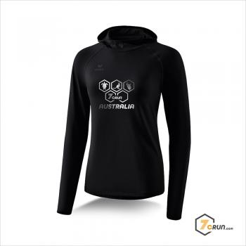 Longsleeve mit Kapuze - DAMEN - AUSTRALIA collection - black/silber