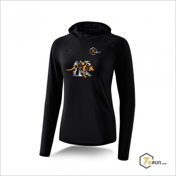 Longsleeve mit Kapuze - DAMEN - Känguru - AUSTRALIA collection - schwarz/orange-silber