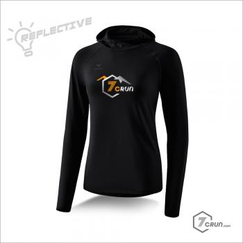 Longsleeve mit Kapuze - REFLECTIVE - TRAILRunning collection