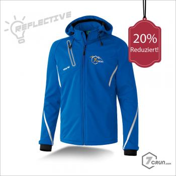 Jacke aus flexiblem Softshell-Material - REFLECTIVE - TRAILRunning collection - new royal