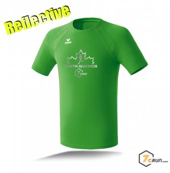 Reflective ATHLETIK Running Shirt HERREN - Maple Leaf - NORTH AMERICA collection - green