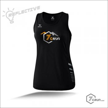 RACE LINE Running Singlet - REFLECTIVE - TRAILRunning collection- Schwarz