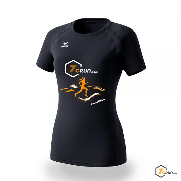 ATHLETIC Running Shirt DAMEN Welle - 7CRun AFRICA collection - black