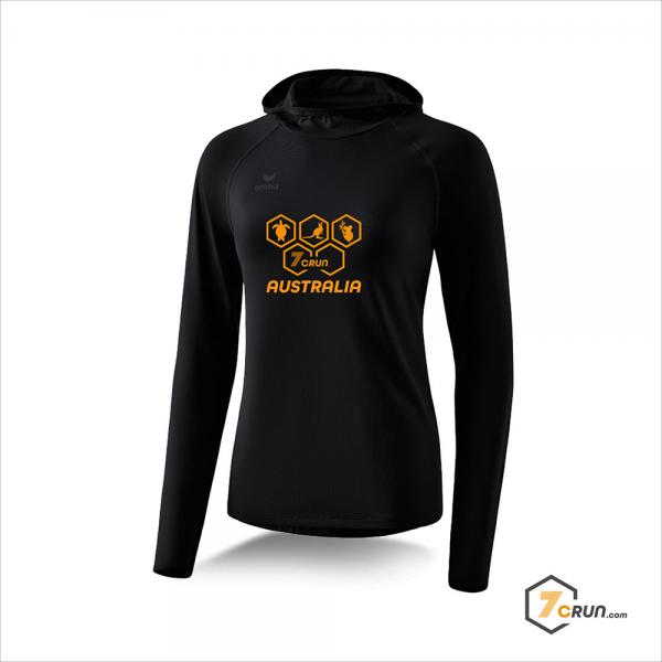 Longsleeve mit Kapuze - DAMEN - AUSTRALIA collection - black/orange
