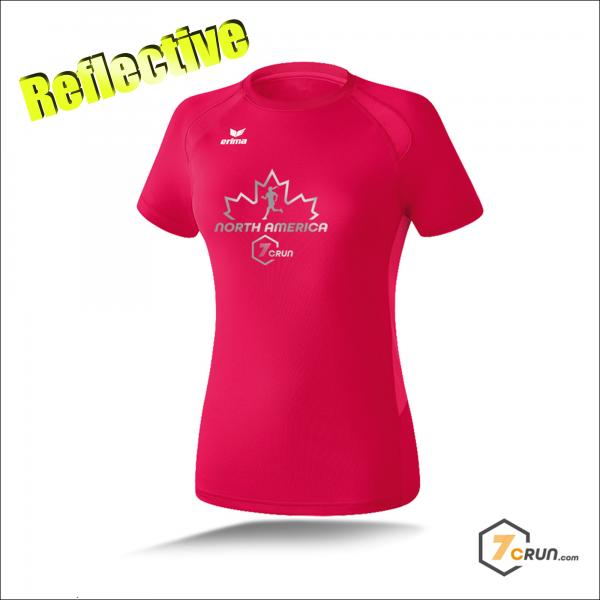 Reflective ATHLETIK Running Shirt DAMEN - Maple Leaf - NORTH AMERICA collection - magma