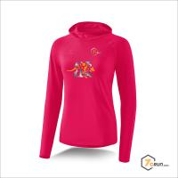 Longsleeve mit Kapuze - DAMEN - Känguru - AUSTRALIA collection - magma/orange-silber