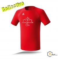Reflective ATHLETIK Running Shirt HERREN - Maple Leaf - NORTH AMERICA collection - red