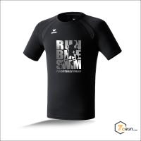 ATHLETIK Running Shirt HERREN run bike swim - 7CRun EUROPE collection - black/silver